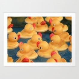 Rubber Duckies Art Print