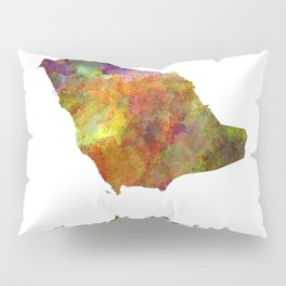 Saudi Arabia in watercolor Pillow Sham