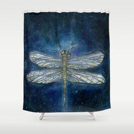 Interstellar Dragonfly Shower Curtain