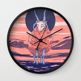 Manx Loaghtan sheep Wall Clock