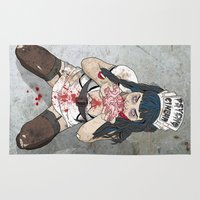 gore Area & Throw Rugs featuring Brainssssss by Doktorsour