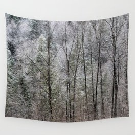 Snow Dusted Trees, No. 1 Wall Tapestry