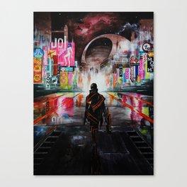 Blade Runner X Tron Canvas Print