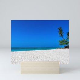 White Sands and Palm Trees Mini Art Print