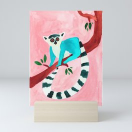 L for Lemur Mini Art Print
