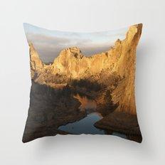Smith Rock Sunrise I Throw Pillow