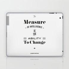 Einstein Quote, words of wisdom Laptop & iPad Skin