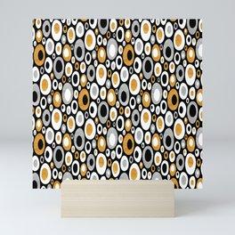 Mid Century Modern Ovals - Small Print in Black, White, Gold, Silver Mini Art Print