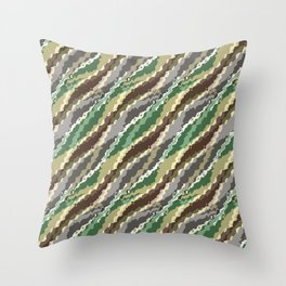 Abstract camouflage pattern. Throw Pillow