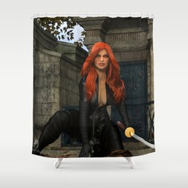 Graveyard Vengeance Shower Curtain