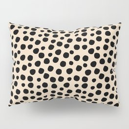 Irregular Small Polka Dots black Pillow Sham