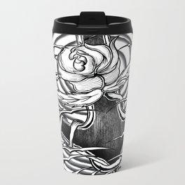 Rose and anchor Metal Travel Mug