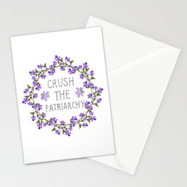 crush the patriarchy Stationery Cards