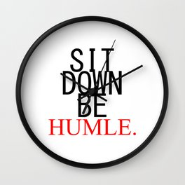 Humble. Kendrick Lamar Wall Clock