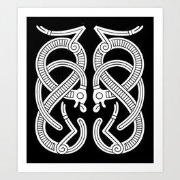 Jelling Style Ornament IV Art Print