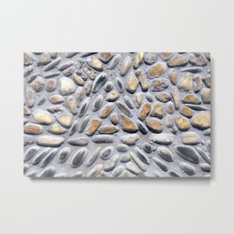 rocks natural zen pattern beautiful calming peaceful colorful path wall Metal Print