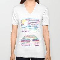 venice V-neck T-shirts featuring Venice by daletheskater