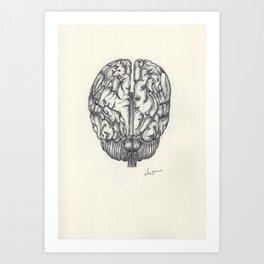 BALLPEN BRAIN 3 Art Print