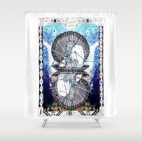 aquarius Shower Curtains featuring Aquarius by Caroline Vitelli GOODIES