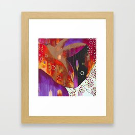 """Reflect You"" Original Painting by Flora Bowley Framed Art Print"