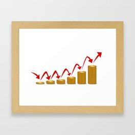 Rising Money Steps Framed Art Print