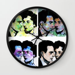 Elizabeth Taylor and Clift Montgomery POPART Wall Clock