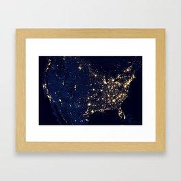 North American Lights Framed Art Print