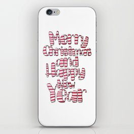 Merry Christmas And Happy New Year iPhone Skin