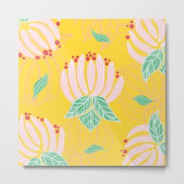Blush Bloom Peony Lemon Metal Print