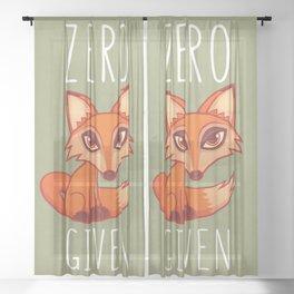 Zero Fox Given Sheer Curtain