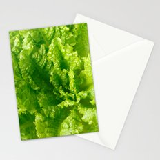 Lettuce closeup Stationery Cards