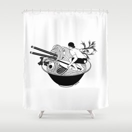 Noodle Wave Shower Curtain