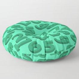 Green number in 3D Floor Pillow