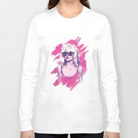 blondie Long Sleeve T-shirts featuring Blondie by Dave Merrell