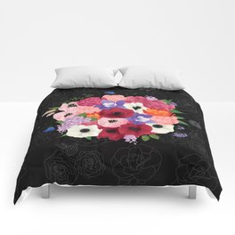 floral topiary Comforters