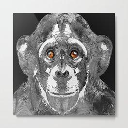 Black And White Art - Monkey Business 2 - By Sharon Cummings Metal Print