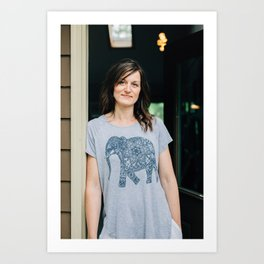 Artists In Jackson: Nicole Cure Art Print