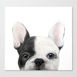 French Bulldog Dog illustration original painting print Canvas Print