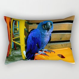 Blue Birds Watching You Rectangular Pillow