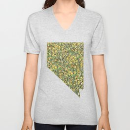 Nevada in Flowers Unisex V-Neck