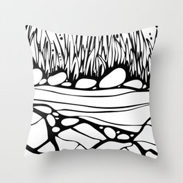 By the River 1 Throw Pillow