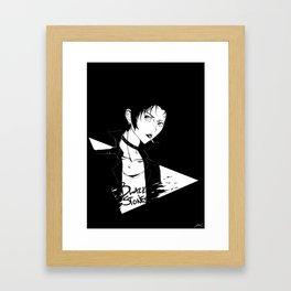 Black Stones Framed Art Print