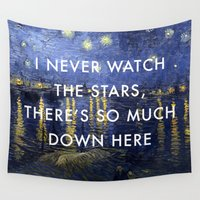 lorde Wall Tapestries featuring I Never Watch the Starry Night by Lorde Art History
