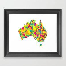 Abstract Australia Bright Earth Framed Art Print