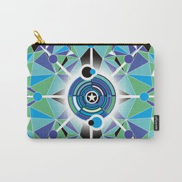 Abstract Geometric Design Carry-All Pouch