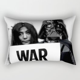 Darth Vader with Yoko Ono Rectangular Pillow