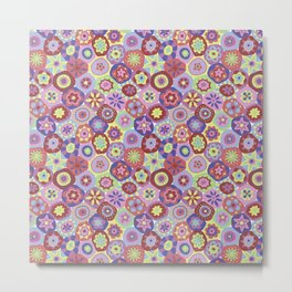 Millefiori-Coolio Colors Metal Print