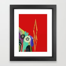 Red Abstract Framed Art Print