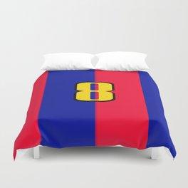 soccer team jersey number eight Duvet Cover