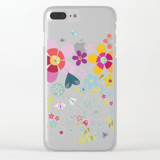 Schmetterlingswiese – Butterfly-Meadow Clear iPhone Case